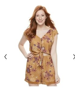 Women's adorable floral print romper